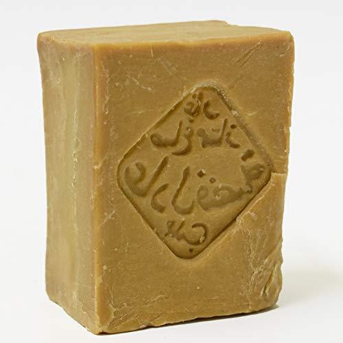 Olive and More Original Aleppo-Seife 190g | 16% Lorbeeröl und 84% Olivenöl | Handgeschnitten |geeignet für Gesicht Körper Haarwäsche Rasur | 100% Naturprodukt Natur-seife| Vegan | Premiumqualität