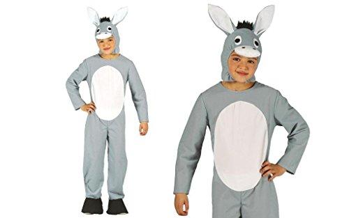 Esel Kostüm für Kinder Gr. 98-134, Größe:128/134