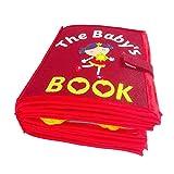 Hearthrousy Stoffbuch Baby Kid's Cloth Book Baby-Tuch-Buch Stärkung der Eltern Kind Beziehung für Die Frühe Kognitive Entwicklung Kids Toy Cloth Books