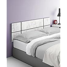 Cabezal cabecero blanco collage para camas de 135cm o 150cm ancho de dormitorio. Incluye herrajes para colgar. 150cm ancho x 50cm alto x 32mm