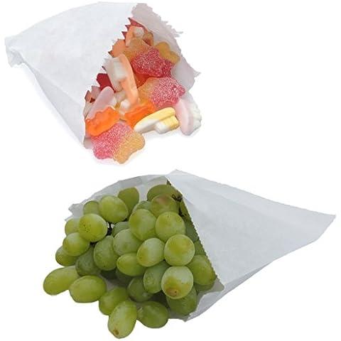 Paper Bags - Sacchetti di carta antiaderente, 25,4 x 25,4 cm, 100 sacchetti per confezione