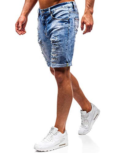 BOLF Herren Kurzhose Jeanshose Sporthose Casual Short Hose Ross KEMP T567 Blau 31 [7G7]