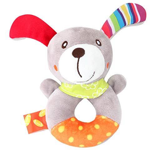 Mitlfuny Auto-Modell Plüsch Bildung Squishy Spielzeug aufblasbares Spielzeug im Freien Spielzeug,Tierhandglocken-Baby-weiche Spielwaren-Rassel-Bett scherzt Griff-Spielzeug (Baby Mädchen Roboter Kostüm)