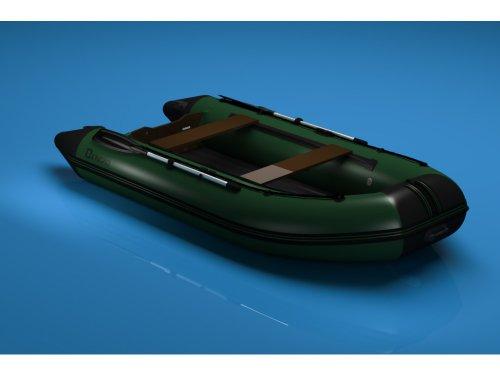 N-360 cm Schlauchboot Boot Angelboot (grün/schwarz) mit Luftboden Bengar Nexus