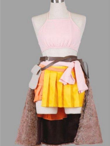 Fantasy Vanille Final Kostüm (Vivian Halloween Final Fantasy F13 Vanilla Installation Cosplay Kostüm(kann angepasst werden),Größe M:(160-165)