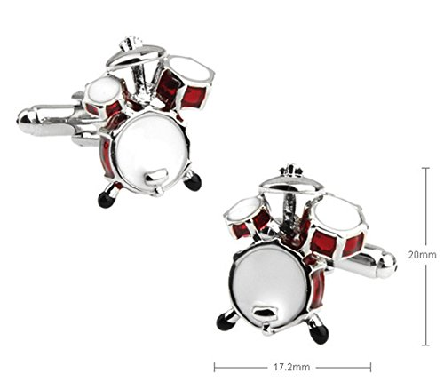 Cloud Home Drum Shape The Lacquer That Bake Process French Nailed Men'S Shirt Cufflinks