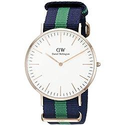 Daniel Wellington Men's Quartz Watch Classic Warwick 0105DW with Plastic Strap