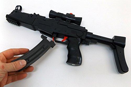 Brigamo 1567 – MP5 Maschinenpistole schießt Hydrogel Kugeln und Nerf Pfeile, inkl. 400 Schuß Munition - 2