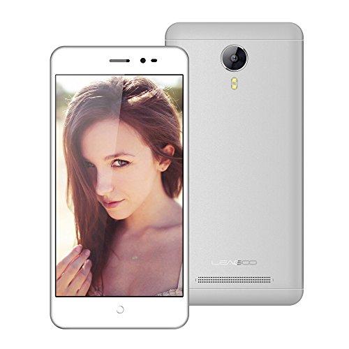 "Leagoo Z5c - 5.0"" 3G Smartphone Libres, Android 6.0 Quad Core 1GB+8GB, Smart Wake, Dual Cámaras con Flash LED, Proximidad Sensor, Dual SIM Teléfono Móvil, Aurora Blanco"