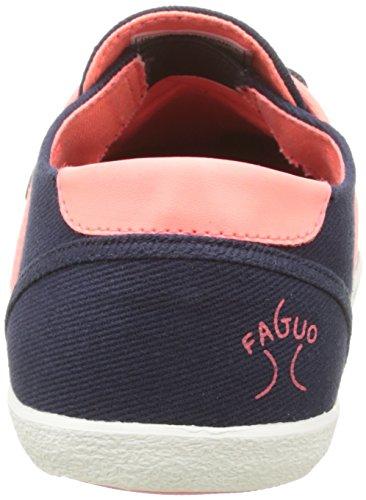 Faguo Cypress, Baskets Basses Femme Bleu (S1653 Twill Navy/Pin)