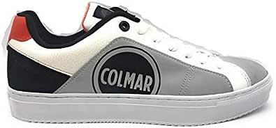 Colmar Sneacker Uomo Pelle con Logo Bradbury Deep Bianco o Grigio.Collezione Autunno-Inverno 2019-2020. Calzature Ideali per Il Tempo Libero Senza rinunciare al Look Moderno.