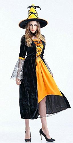 stüm Damen Cosplay Hexenkleid & Hut Hexenkostüm Damen Kostüm Halloween Karneval Fasching Hexe Cosplay Kleid (Kinder, Tarzan-kostüm)