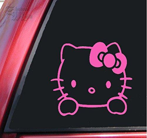 (SUPERSTICKI® CCI126 - Hello Kitty Aufkleber Decal Hintergrund/Maße in inch 6 x 5.5 Pink)