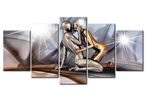 murando - Acrylglasbild Abstrakt 200x100 cm - 5 Teilig - Glasbilder - Wandbilder XXL - Wandbild - Bilder - h-A-0019-k-m - 7