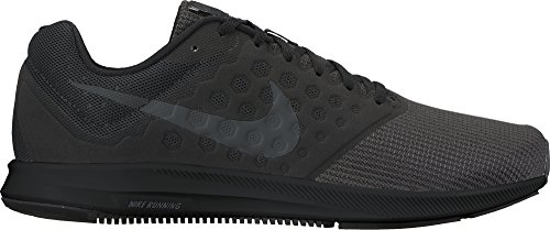 Nike Herren Downshifter 7 Laufschuhe, Mehrfarbig (Black/Mtlc Hematite-Anthracite), 44 EU