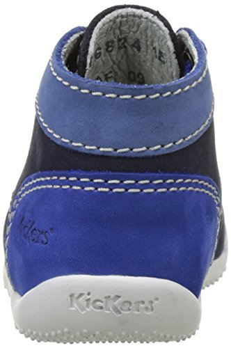 Kickers Bonbon, Chaussures Premiers pas Bébé Mixte Bleu (Marine Bleu Bleu)
