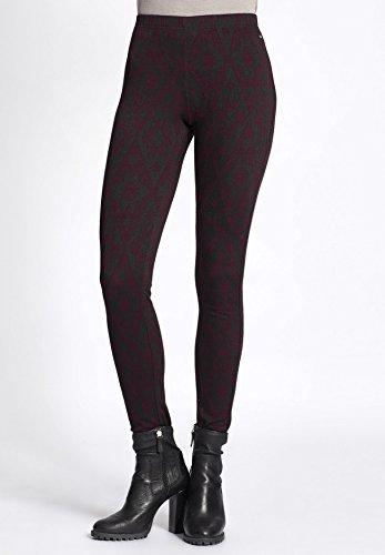 khujo - Pantaloni - Basic - Donna dunkelgrün gemustert ...