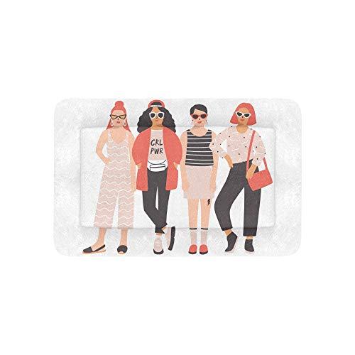 Young Ladies Girls Best Friend Forever Large Custom Impreso Ropa de cama Soft Pet Dog Beds Sofá Para cachorros y gatos Muebles Mat Cojín Almohadilla cubierta Cojín Regalo Proveedor 36 X 23 pulgadas