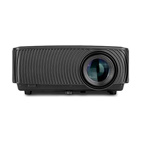 BESTSUGER HD-Videoprojektor, Mini-Diaprojektoren, tragbarer Mini-Projektor mit 1200 Lumen 1080P, kompatibel mit Fernseher HDMI VGA USB Laptop