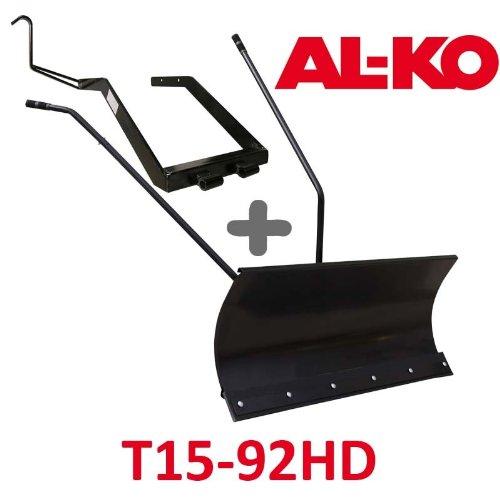 Lame à Neige 118 cm Noire + adaptateur pour AL-KO T15-92HD