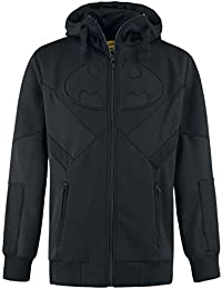 Batman Logo Sweat à capuche zippé noir