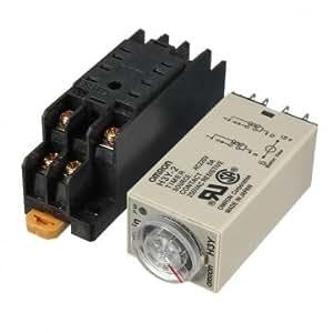 Haute Qualité H3Y - 2 220V Le Relais temporisé Solid-State minuterie DPDT Socket