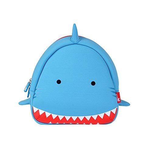 Wasserdichter Rucksack für Kinder Jungen Mädchen Kleinkinder Baby Kinder-vivid 3d Cartoon Meer Tier Schoolbags für Wandern Travel Dragon Kleinkind Sidekick Blau Blue Shark
