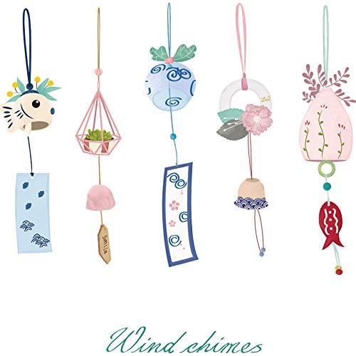 HCCY Japanische cartoon anordnung tapete und wind Einfache mädchen herz raumdekoration wandaufkleber kleine frische windspiel 80 * 79 cm