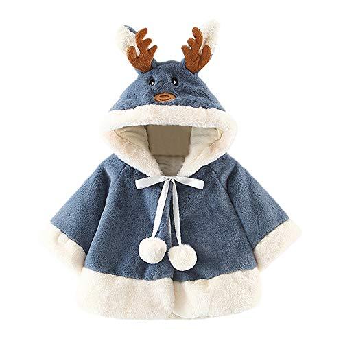 Weihnachten Baby (12M-3J) Kostüm, Hirsch Mit Kapuze Mantel Kap Robe Mantel Hoodie Overall Strampler Solide Baumwolle Weich Beiläufig Klassisch Einfachheit Retro Sweatshirt Jacke