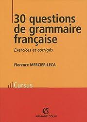 30 questions de grammaire française
