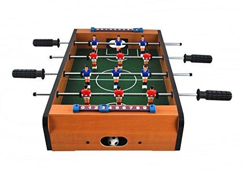 Iso Trade Mini Kicker - Kleiner Kickertisch - Transportabler inkl. 2 Bälle Fussballtisch Tischfußball Tischkicker Kinder 1565