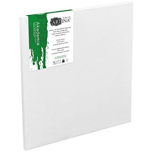 Artina Keilrahmen 70x100 cm Leinwand 100% Baumwolle auf stabilen Leisten in Akademie Qualität - weiß grundiert - 280 g/m²