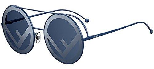 Fendi ff 0285/s 8n pjp, occhiali da sole donna, blu (bluette/bl blue), 63