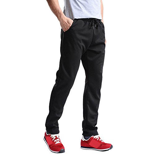 Herren Laufhose/ Herren Jogginghose,Bovake Männer {Sporthosen} Hosen Hip Hop Jogging Jogginghose Jogginghose Jogginghose (Black, L) (Compression Heatgear Legging Fit)