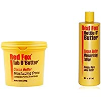 Red Fox Cacao Buter Bottiglia O' Burro Lozione 473ml PLUS Red Fox Blister o' burro Crema 287g SET