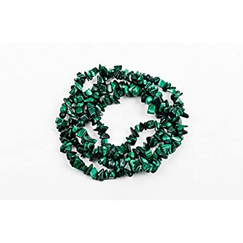 "jennysun2010 naturale 4 – 8 mm Chip perline 32 "" – 35 Ematite turchese malachite corallo 1 Strand per borsa per braccialetto collana orecchini gioielli artigianato design guarigione, Malachite, 4-8mm"