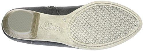 s.Oliver25314 - Stivali classici imbottiti a gamba corta Donna Grigio (GRAPHITE COMB. 216)