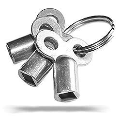 Entlüftungsschlüssel 2er Set Heizungsschlüssel Heizkörper Entlüfter Heizung NEU