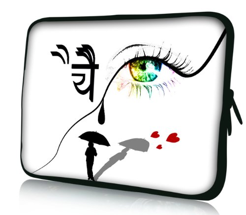 Luxburg® Design Laptoptasche Notebooktasche Sleeve für 17,3 Zoll, Motiv: Strümpfe Auge