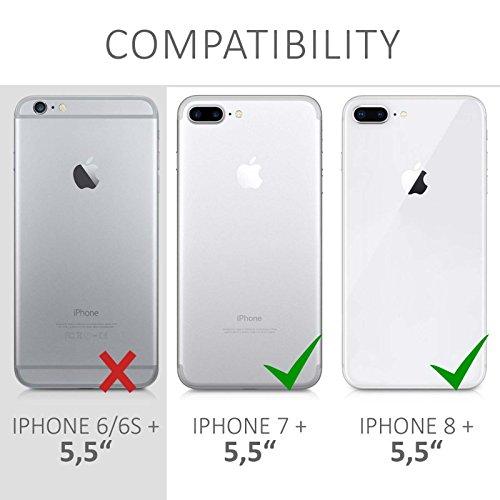 Cover iphone 8 PLUS, Lincivius®, Cover Iphone 8 PLUS 5.5 Custodia Di Gel In Silicone TPU Case Coppertura Prottetiva Logo : Grigio fatina bianca