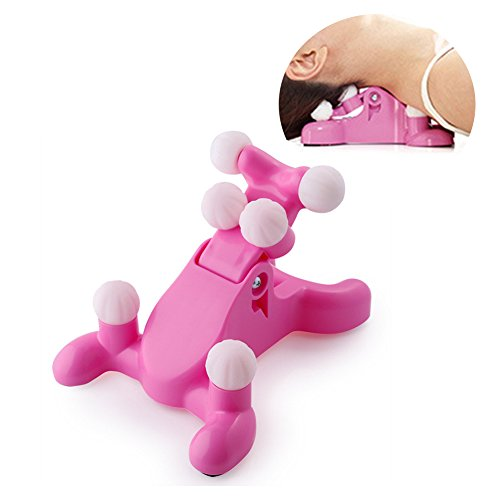 Cervical Care Nacken Massagegeräte Portable Manuelle Balance Nackenmassagegeräte,Pink