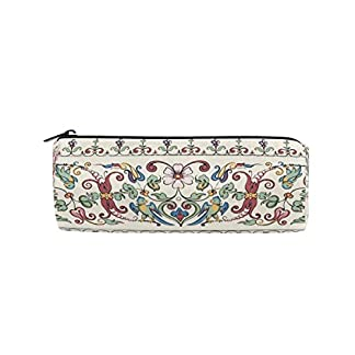 Bonie – Estuche para lápices con diseño retro étnico bohemio floral