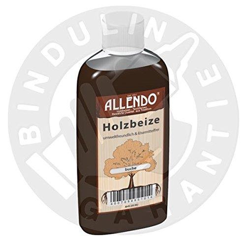 Holzbeize Holzton inkl. 1x Pinsel für beizen zum Auftragen (250 ml nussbaum-dunkel)