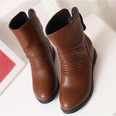 GLL&xuezi Da donna Stivaletti Stivali PU (Poliuretano) Autunno Inverno Casual Bianco Nero Marrone 5 - 7 cm brown
