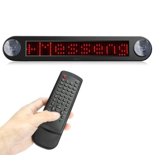 12V LED Car Programmable Message Sign Moving Scrolling Display Board Red
