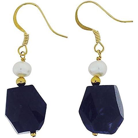 The Olivia Collection amatista y perlas de agua dulce de pepita de buena pendientes de gota