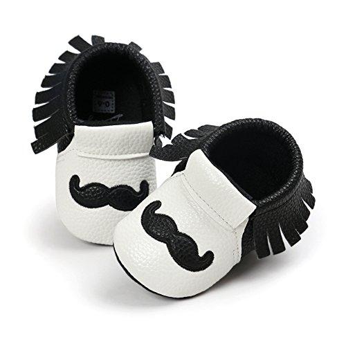 Fire Frog  Baby Mary Jane Shoes, Baby Jungen Lauflernschuhe Schwarz