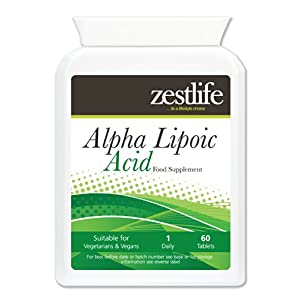 41B4dd9SA4L. SS300  - Zestlife Alpha Lipoic Acid 200mg 60 Tablets This Powerful antioxidant Promotes Normal Cellular Energy, Defends Cells…