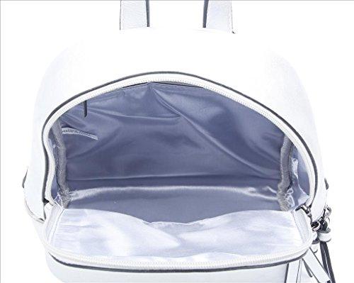 OBC Donna Ragazze Jeans Zaino in strass brillantini Denim Cotone ZAINO DA Città ZAINO DA Città Borsa a tracolla borsa - bianco, ca 28x25x10 cm (BxHxT) BIANCO 29x31x13 cm