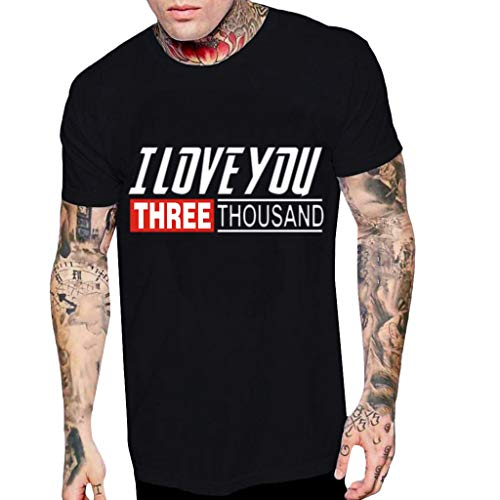 Luckycat Avengers 4 I Love You Three Thousand Times Herren T-Shirt Kurzarmshirt Oversize Longshirt Basic O-Neck Kurzarm Shirt Top Basic Shirt Crew Neck Sweatshirt Sweater Tank Top Tankshirt T-Shirt Crew-jersey Sweatshirt